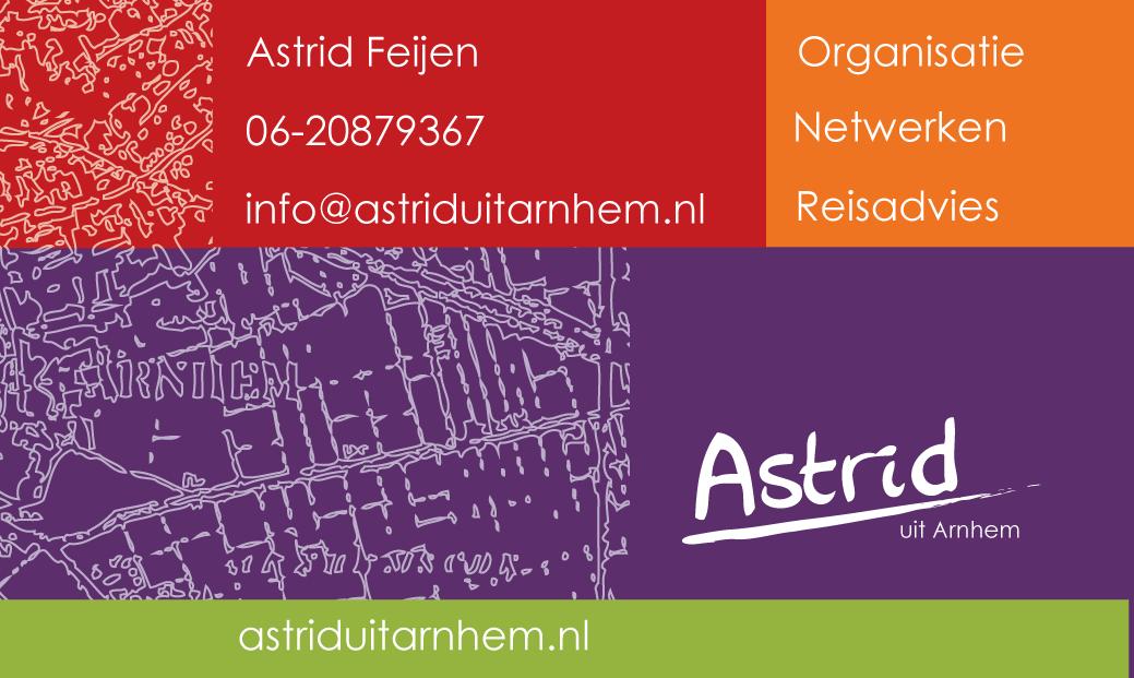 Visitekaart | Astrid uit Arnhem