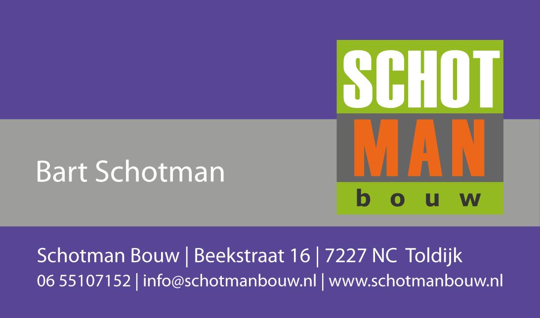 Visitekaart en Logo | Schotman Bouw