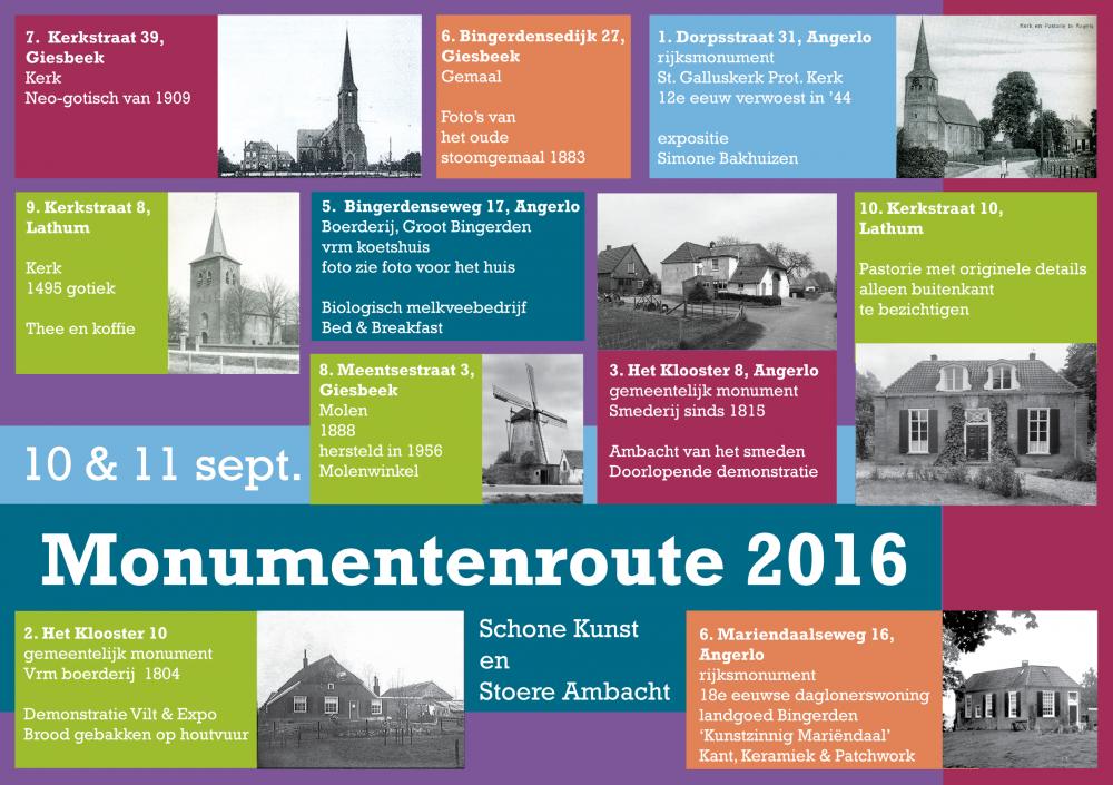 Flyer | Monumentenroute Angerlo 2016
